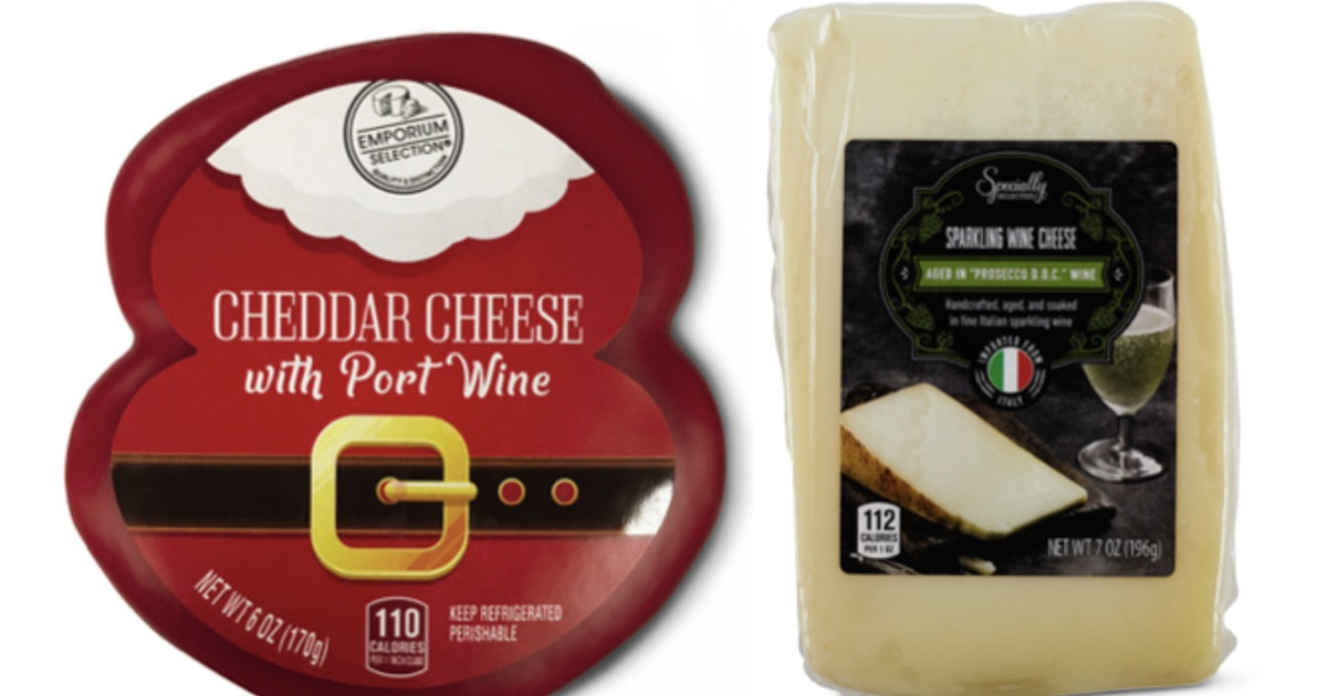 These December 2019 Aldi Finds Feature Alcohol-Infused Cheeses