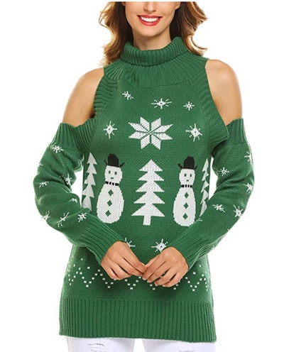 SoTeer Oversized Sweater Women Xmas Sweater in 'Pattern Green'