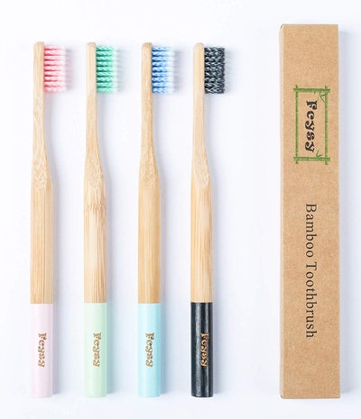Fcysy Bamboo Toothbrush (4-Pack)