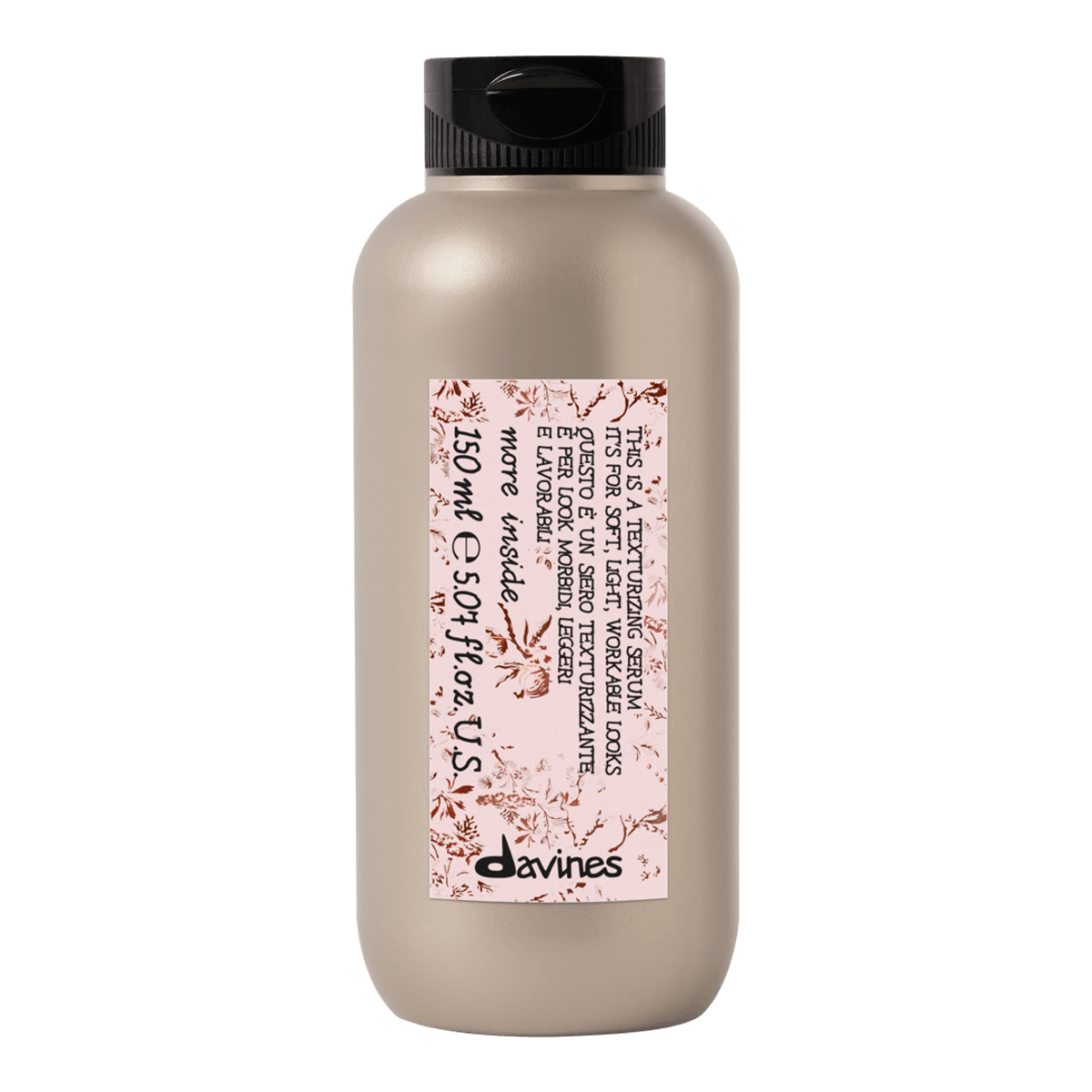 Packaging for Davines' new This is a Texturizing Serum