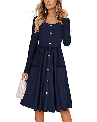 KILIG Women's Long Sleeve Dress