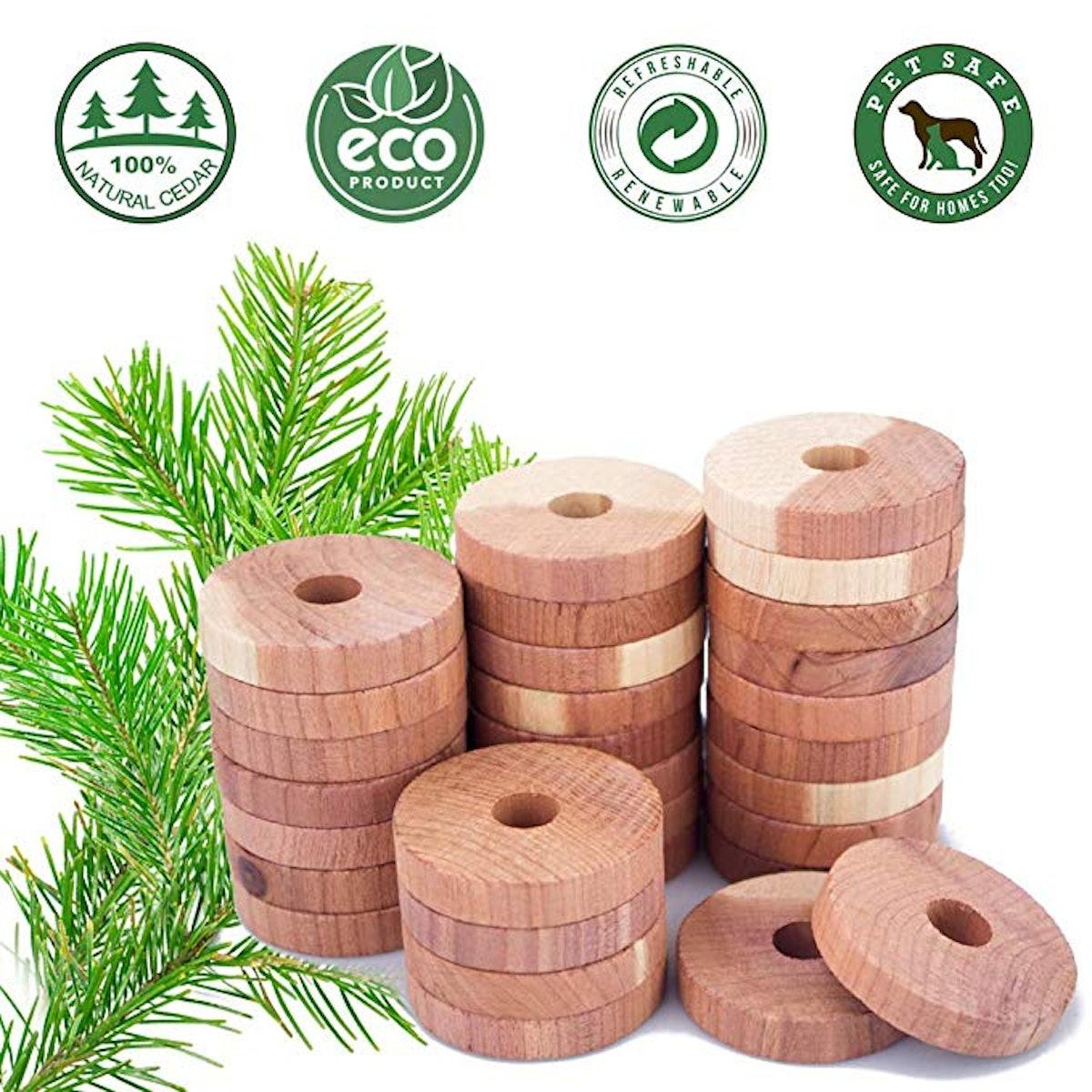 ACMETOP Aromatic Cedar Blocks (30 Pack)