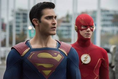 The heroes in the 2019 Arrowverse crossover Crisis on Infinite Earths.