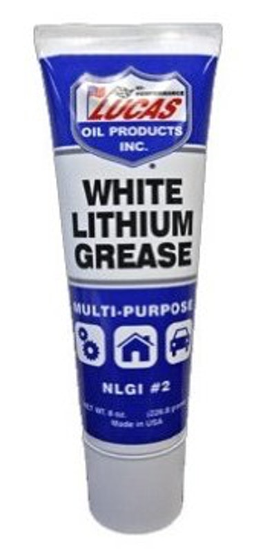 Lucas Oil 10533 White Lithium Grease (2-Pack, 8 Oz. Tubes)