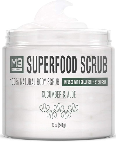 M3 Naturals Superfood Scrub infused with Collagen and Stem Cell