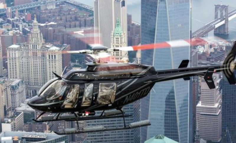 Helicopter ride over New York City for an experience gift.