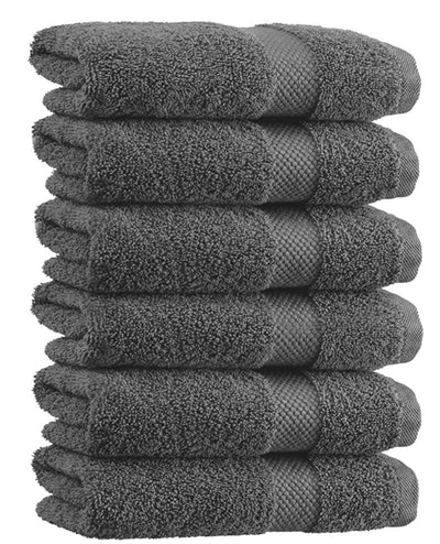 White Classic Luxury Hand Towels (6-Pack)