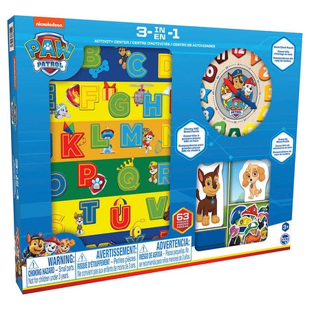 3-in-1 Paw Patrol Wood Activity Center