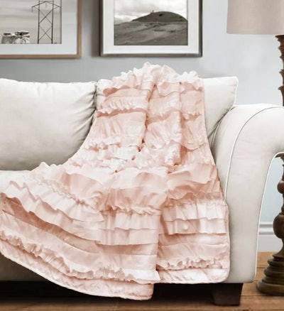 "50""x60"" Bella Throw Blanket Peach"