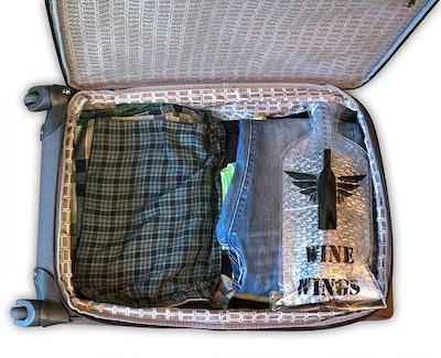 Wine Wings Reusable Bottle Protector Sleeves (4-Pack)