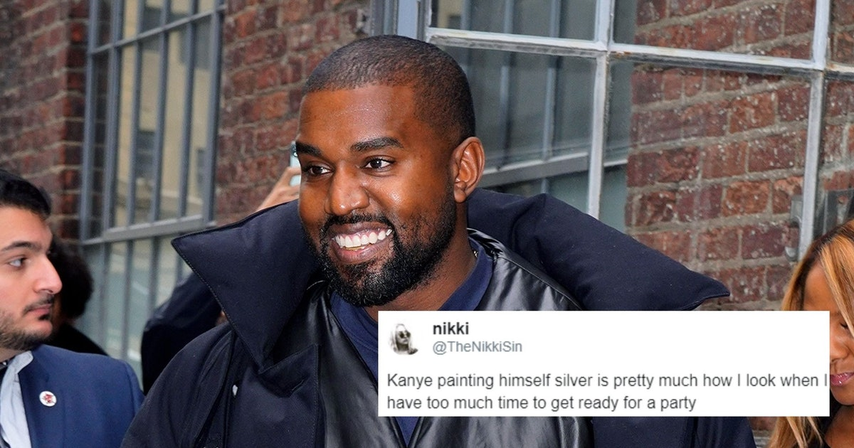 The Tweets About Kanye West Painting Himself Silver Will Have You Rolling
