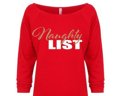 FiercelyYouClothing Naughty List Christmas Sweater