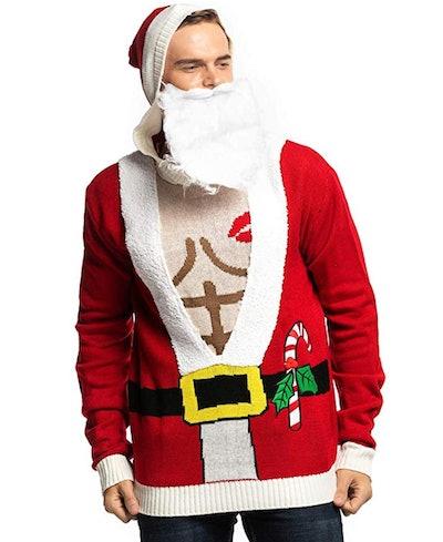 U Look Ugly Today Unisex Ugly Men's Christmas Sweater in 'Stud Santa'