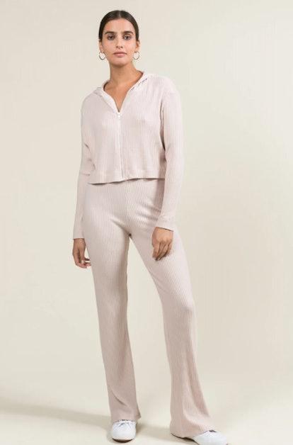 Alison Wide Leg Pants In Blush