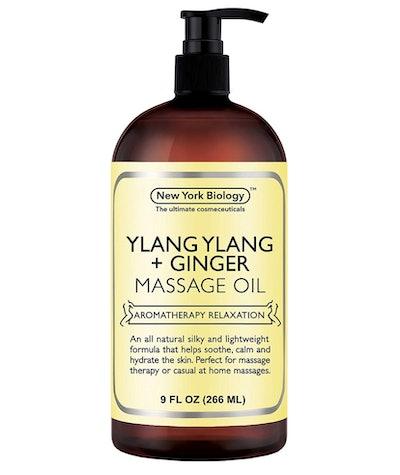 New York Biology Ylang Ylang and Ginger Massage Oil