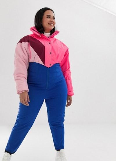 ASOS 4505 Curve Ski Jumpsuit In Colourblock