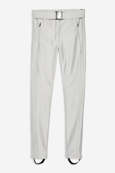 Metallic Silver Trousers By Topshop SNO