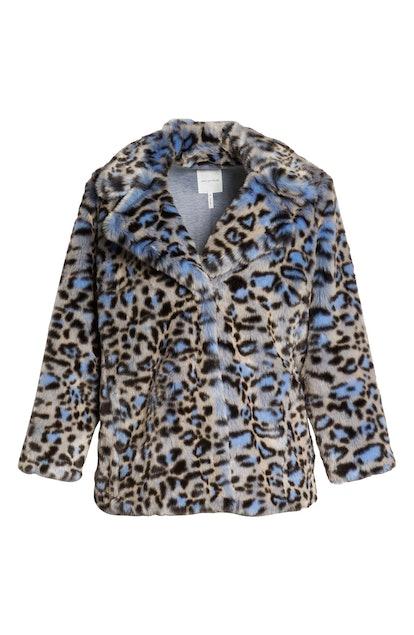 Avec Les Filles Animal Print Faux Fur Coat