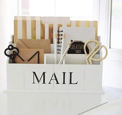 Blu Monaco Wooden Mail Organizer