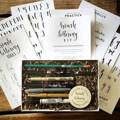 Wildflower Art Studio DIY Brush Lettering Kit