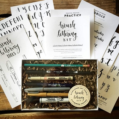 Wildflower Art Studio DIY Brush Lettering Kit