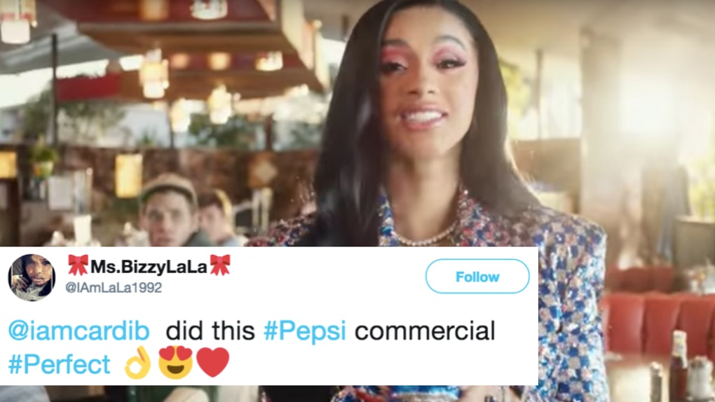 The Tweets About Cardi B In Pepsi S Super Bowl Commercial Are More