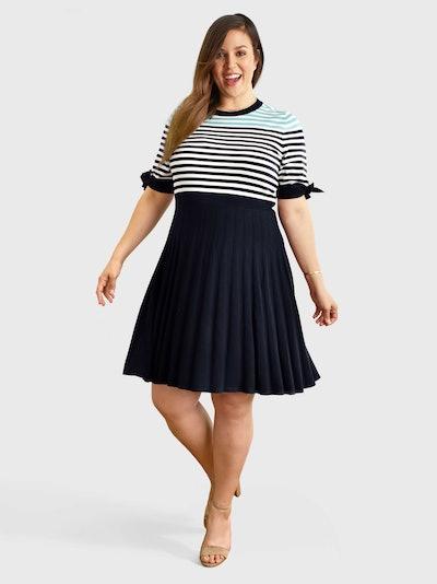 Sailor Stripe Sweater Dress