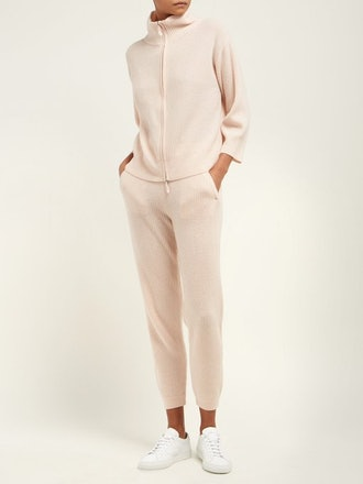 Allude Cashmere Ribbed Knit Sweatpants