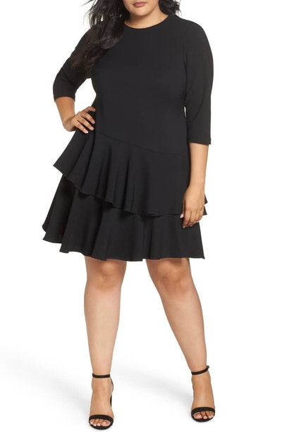 Ruffle Tiered Sheath Dress