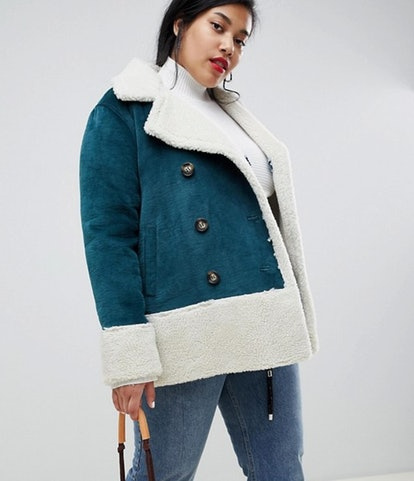 Current Air Plus Fleece Lined Faux Suede Coat