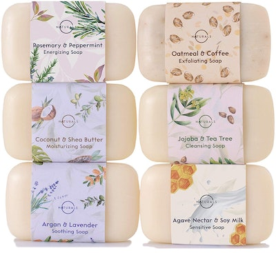 O Naturals Moisturizing Soap Collection (Set of 6)