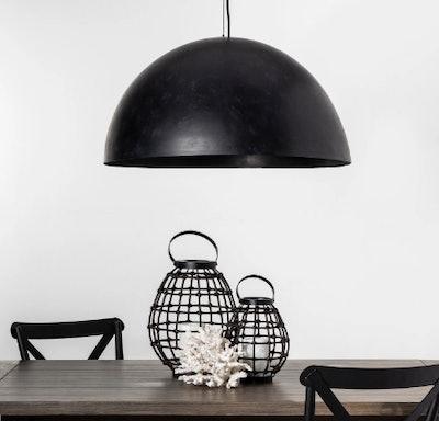 Metal Dome Pendant Lamp (Includes Energy Efficient Light Bulb) - Project 62 + Leanne Ford, Black