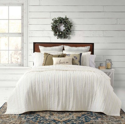 Bee & Willow™ Home French Vintage Ruffled Quilt Set - Full/Queen