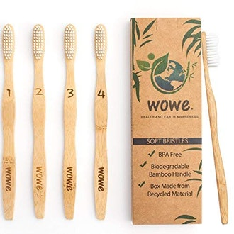Wowe Bamboo Toothbrushes (Pack of 4)