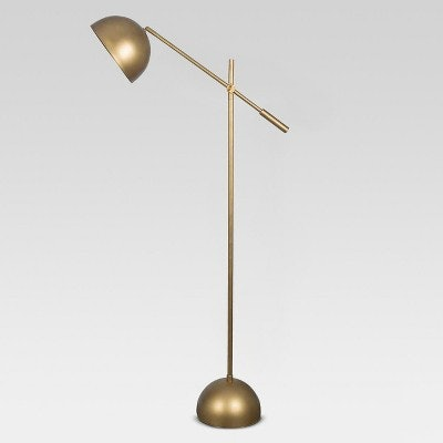 Metal Dome Task Floor Lamp (Includes Energy Efficient Light Bulb) - Project 62 + Leanne Ford, Gold