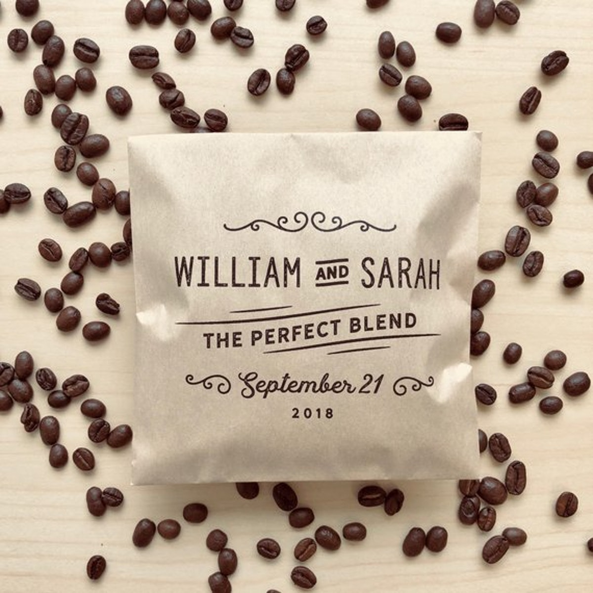 The Perfect Blend Coffee Wedding Favor Bags