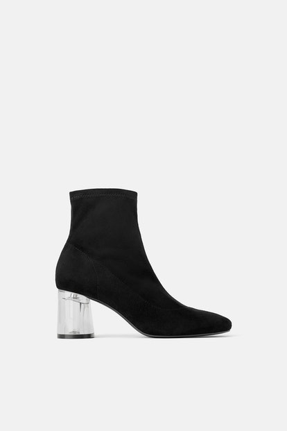 Methacrylate Heel Stretch Ankle Boots