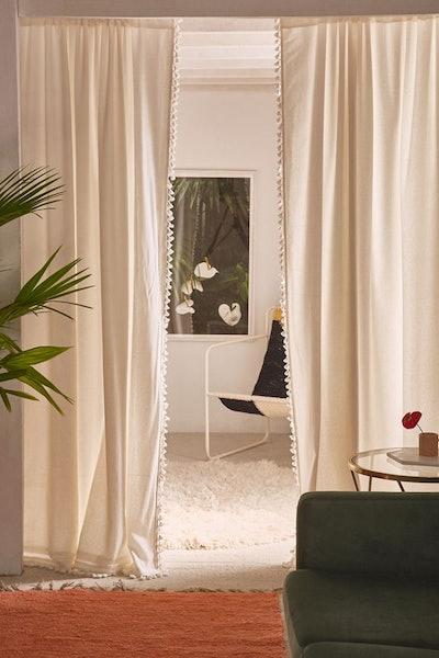 Palma Fringe Light Blocking Window Curtain