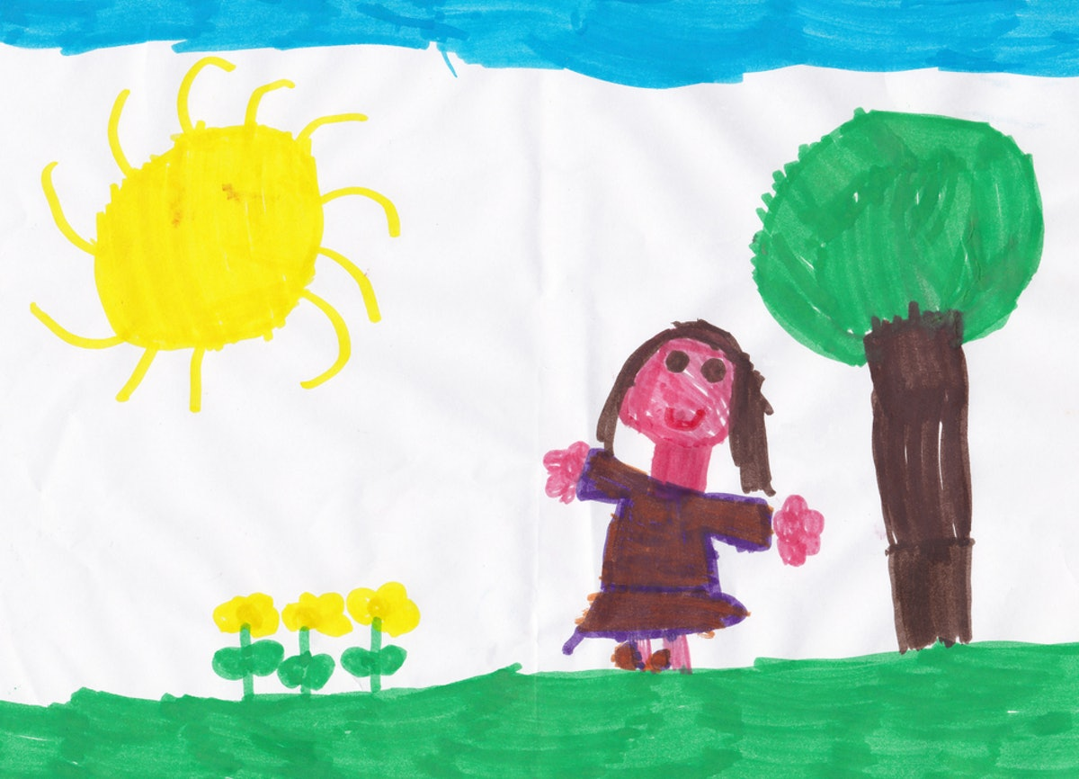Drawing Self-Portraits Is *Incredibly* Beneficial To Kids, So Get Out The Crayons