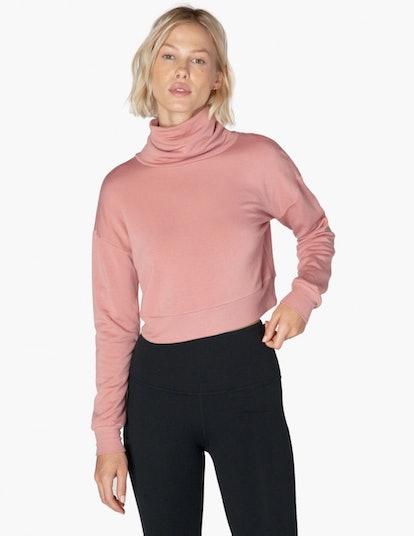 All Time Cropped Turtleneck Sweatshirt