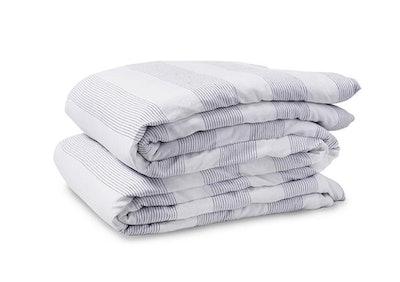 Boho Linen Striped Duvet Cover - Full/Queen