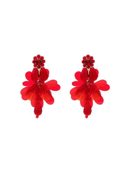Simone Rocha Red Flower Earrings