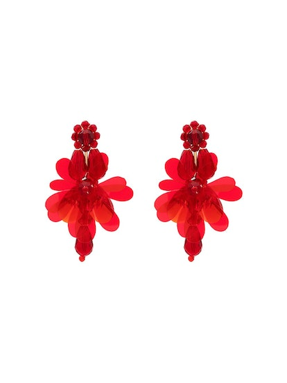 Simone Rocha Red Flower Earrings