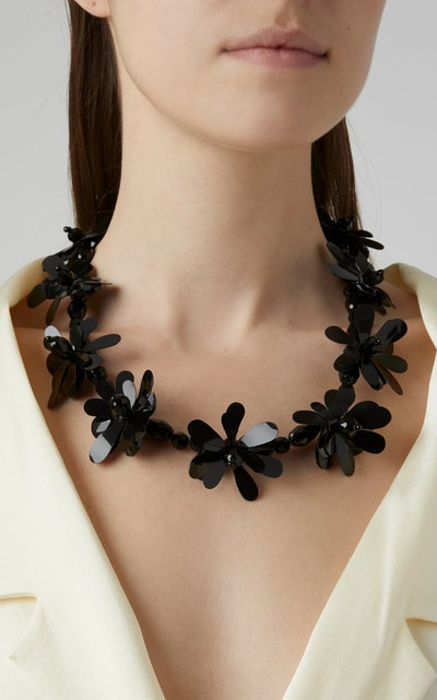 Simone Rocha Beaded Floral Necklace