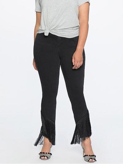 Fringe Trimmed Jeans