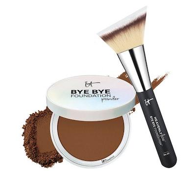 IT Cosmetics Bye Bye Foundation Powder With Brush