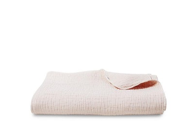 Lightweight Pink Textured Coverlet - Full/Queen
