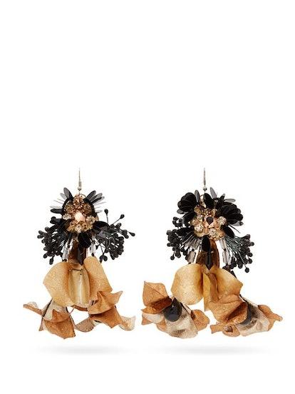 Biyan Tammy Beaded-Flower Drop Earrings