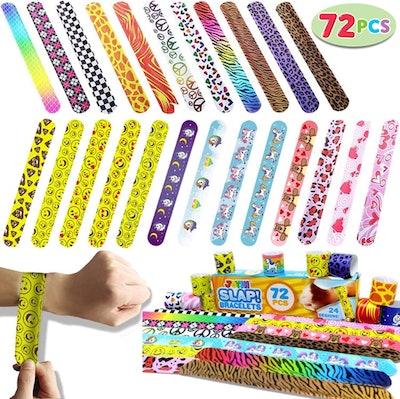 Joyin 72-Piece Slap Bracelet Set