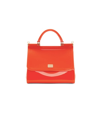 Orange PVC Miss Sicily Bag